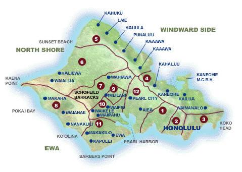 map of oahu towns Map Oahu Hawaii Schools Hawaii Homes Honolulu Real Estate map of oahu towns